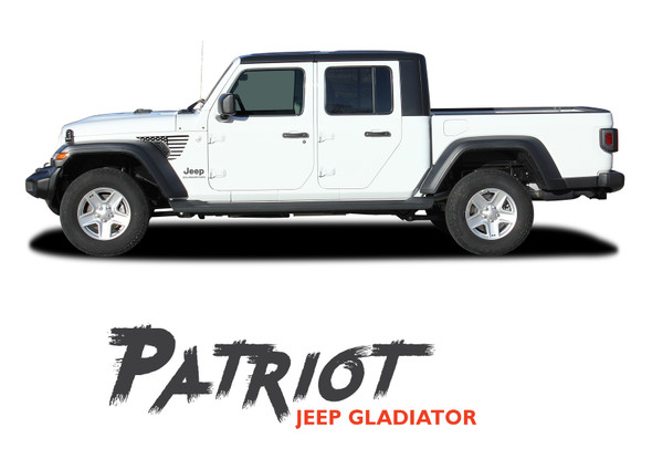 Jeep Gladiator PATRIOT Side Body Star Vinyl Graphics Decal Stripe Kit for 2020-2021 Models