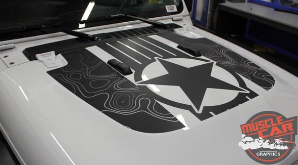 Jeep Gladiator JOURNEY Hood Decal Vinyl Graphics Decal Stripe Kit for 2020-2021 Models