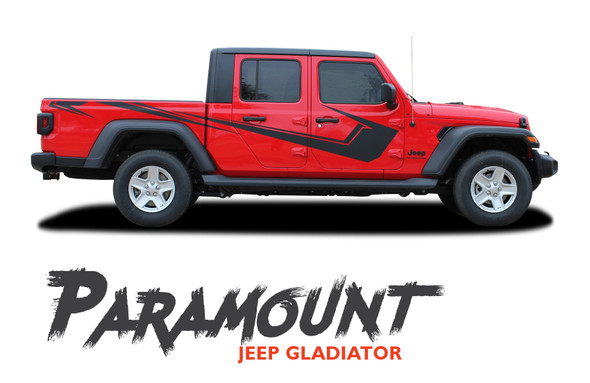 Jeep Gladiator PARAMOUNT Side Body Vinyl Graphics Decal Stripe Kit for 2020-2021 Models