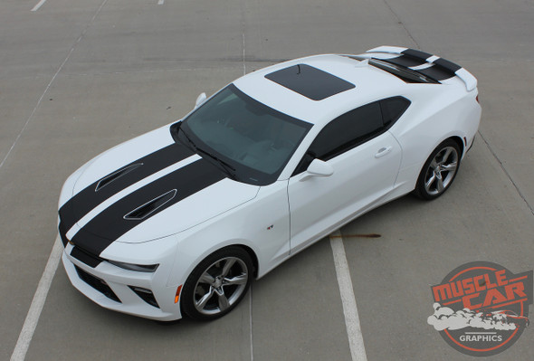 Front View of Chevy Camaro SS Stripes CAM SPORT 3M 2016 2017 2018