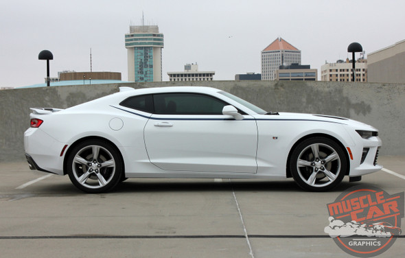 Passenger View of 2016 Camaro Side Stripes PIKE PACKAGE 2016 2017 2018