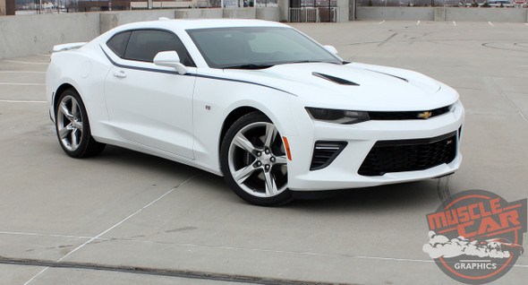 Front Angle of 2016 Camaro Side Stripes PIKE PACKAGE 2016 2017 2018