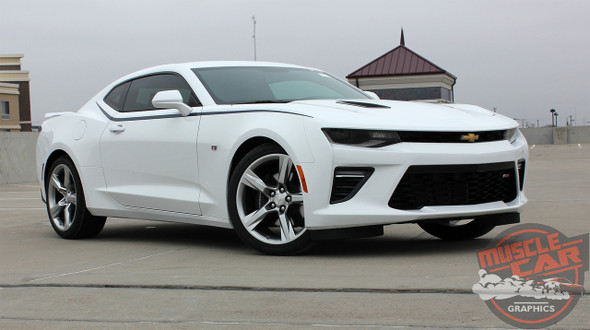Front of Chevy Camaro Side Upper Body Stripes PIKE 2016 2017 2018