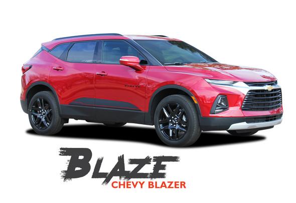 Chevy Blazer BLAZE Lower Rocker Door Panel Body Vinyl Graphics Decals Stripes Kit 2019 2020