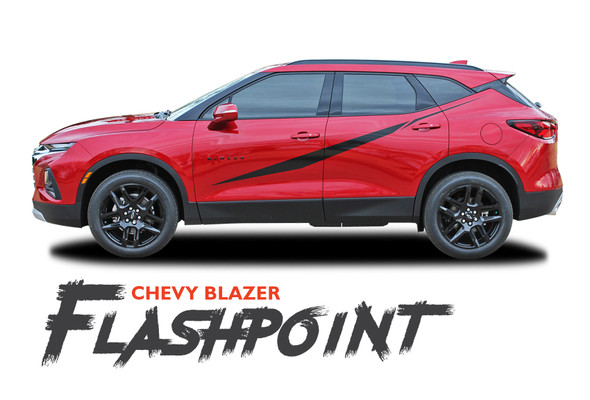 Chevy Blazer FLASHPOINT Side Door Body Vinyl Graphics Decals Stripes Kit 2019 2020 2021