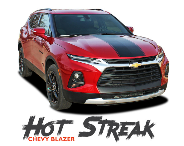 Chevy Blazer HOT STREAK Hood Vinyl Graphics Decals Stripes Kit 2019 2020 2021