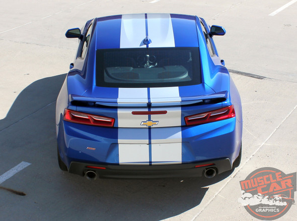 Rear view 2016 Camaro Racing Stripes TURBO RALLY 2016 2017 2018