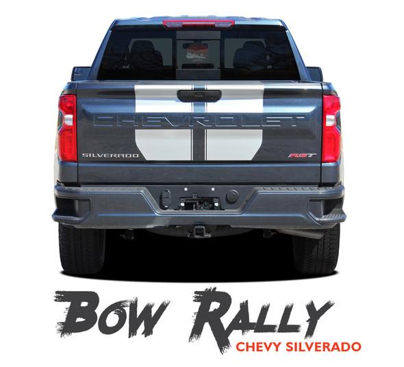 Chevy Silverado Racing Stripes Hood Decals Vinyl Graphic Kit fits 2019 2020 (MCG-6881)