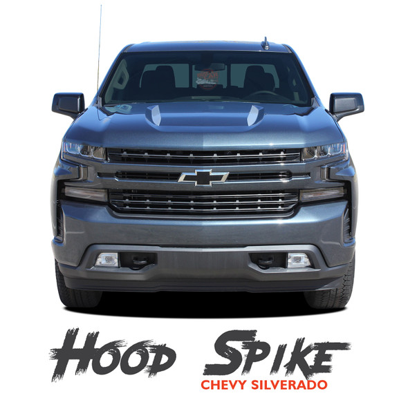 Chevy Silverado Hood Spear Stripes Hood Decals 1500 HOOD SPIKES Vinyl Graphic Kit fits 2019 2020 (MCG-6877) bnnbnbnbbbbbb