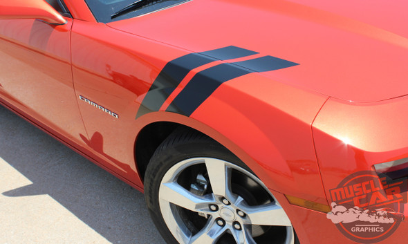 Chevy Camaro Fender Hashmark Decals DOUBLE BAR 2009-2015