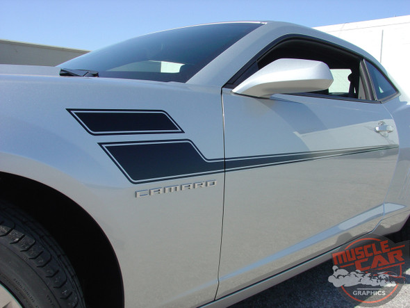 Chevy Camaro Door Side Stripe Decals SPEED 2010-2015