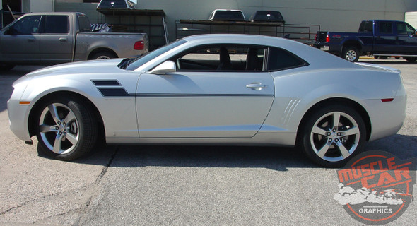 2010-2015 Chevy Camaro Mid Body Line Rally Stripes SPEED