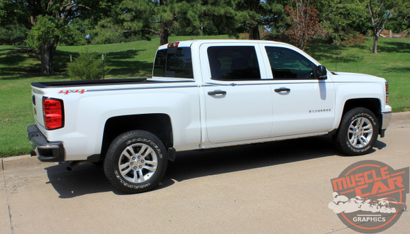 Chevy Silverado Upper Body Graphic Stripes ELITE 2013-2018