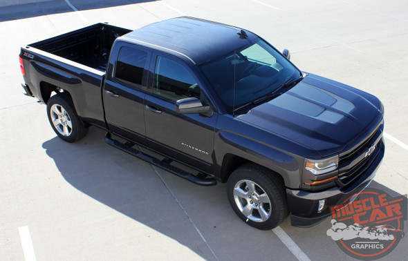 2016 2017 2018 Chevy Silverado Hood Stripes