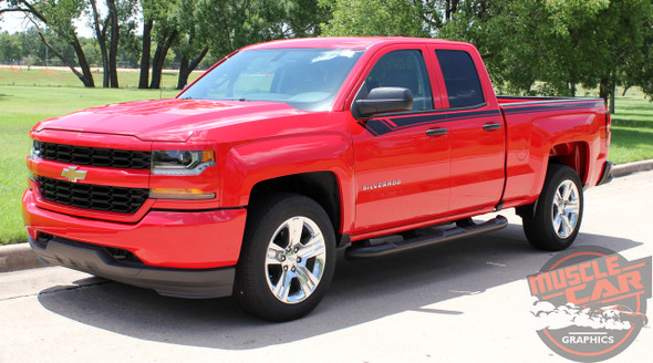 2014-2017 2018 Chevy Silverado Door Stripes BREAKER Upper Body Truck Accent Decals Side Vinyl Graphics Special Edition Rally Kit