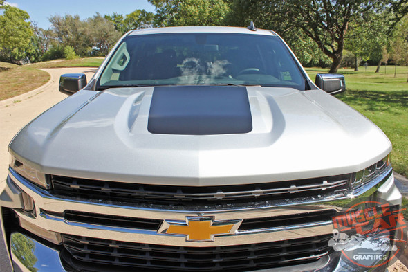 2021 2020 2019 Chevy Silverado Hood Decal T-BOSS Trail Boss Stripe Vinyl Graphics Kit