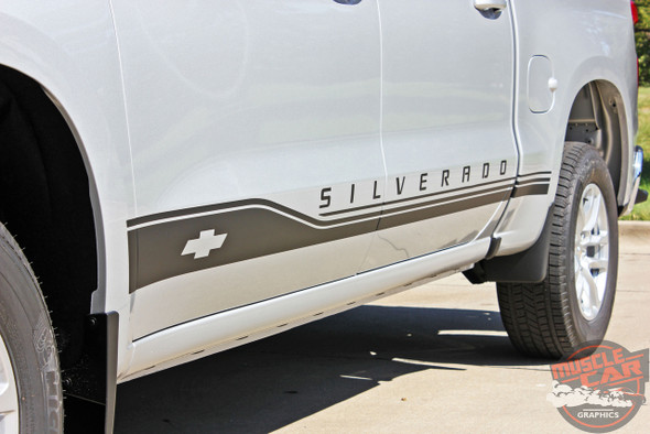 2019 Chevy Silverado Side Decals SILVERADO ROCKER 1 2019-2021