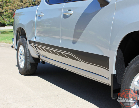 2021 Chevy Silverado Lower Stripes SILVERADO ROCKER 2 2019-2021