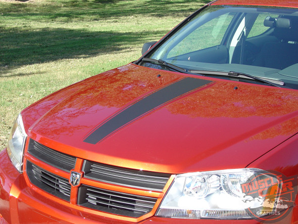 Hood of Side and Hood Stripes For Dodge Avenger AVENGED 2008-2014