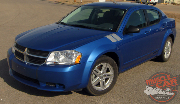 Profile Dodge Avenger Vinyl Graphics DOUBLE BAR 3M 2008-2013 2014