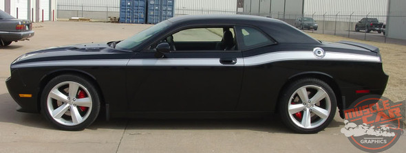 2019 Dodge Challenger Side Decals CLASSIC TRACK 2008-2020