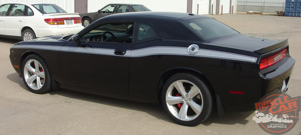 2018 Dodge Challenger Stripes Matte Black CLASSIC TRACK 2008-2018 2019 2020 2021