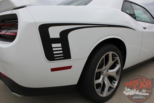 View Dodge Challenger Hockey Stick Stripes CUDA STROBE SIDE 2008-2020