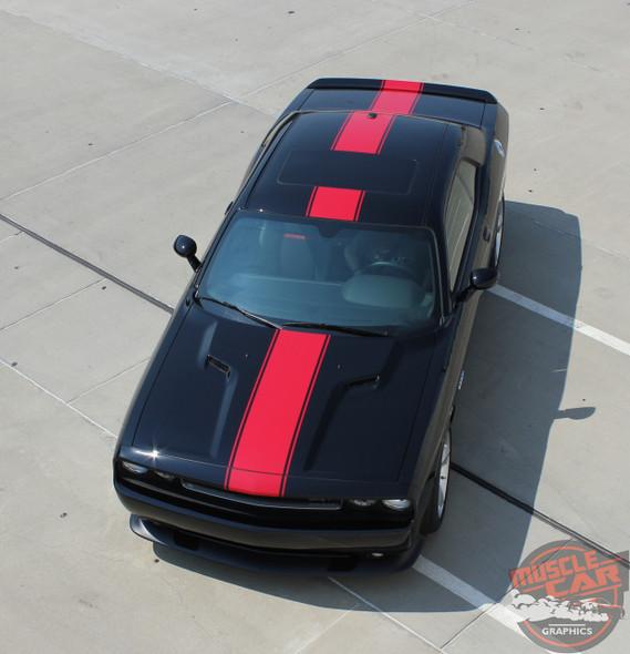 View of 2018 Dodge Challenger Center Stripes 15 FINISHLINE 2015-2020