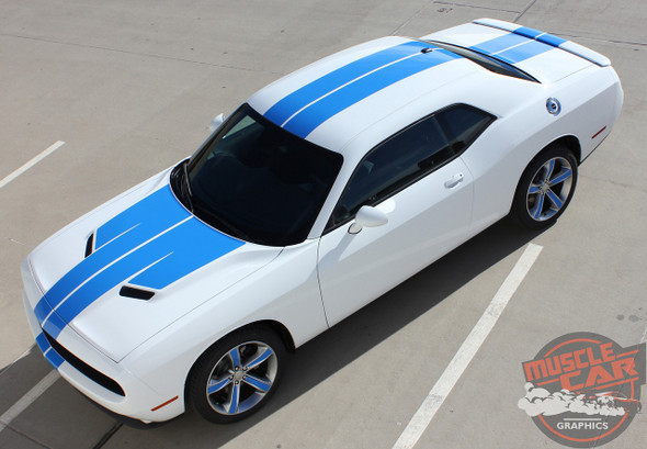 View of 2018 Dodge Challenger Custom Racing Stripes WING RALLY 2015-2020