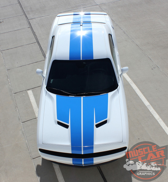 View of 2017 Dodge Challenger Duel Racing Stripes WING RALLY 2015-2020
