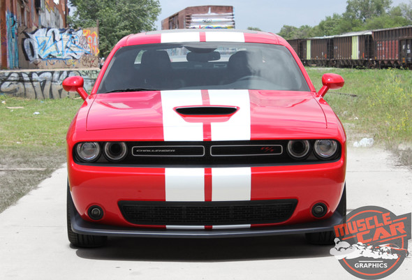 View of 2019 Dodge Challenger Rally Stripes CHALLENGE RALLY 2015-2020