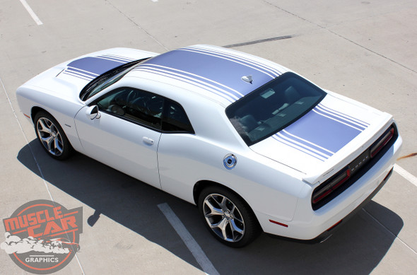 Rear View of 2018 Dodge Challenger Shaker Decals SHAKER 2015 2019 2020 2021