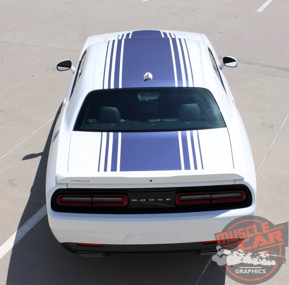 Rear View of 2016 Dodge Challenger Shaker Graphics SHAKER 2015-2020