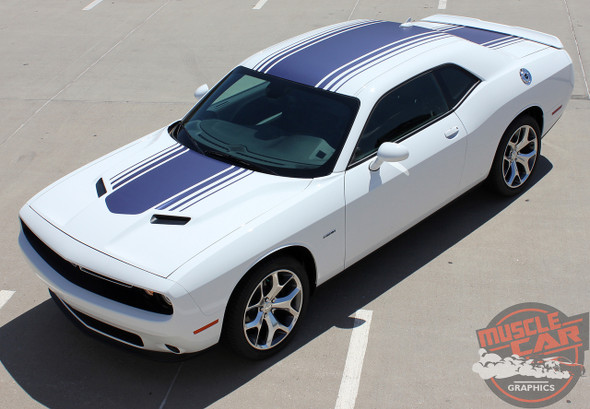 Front View of 2017 Dodge Challenger Shaker Stripes SHAKER 2015-2020 2021