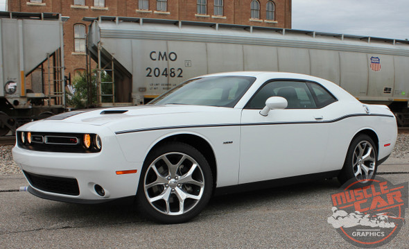 Rear View of 2017 Dodge Challenger Side Decals SXT SIDE KIT 2011-2020