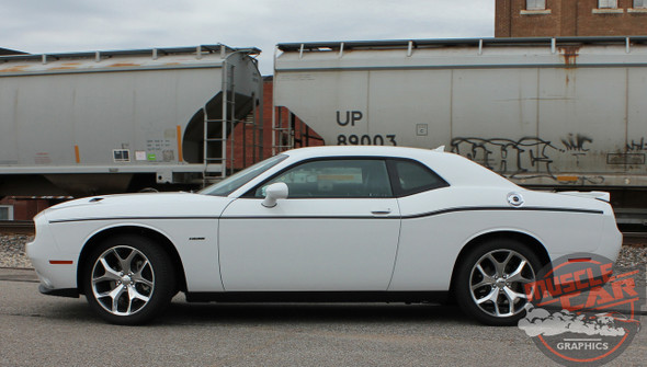 Rear View of 2017 Dodge Challenger Side Decals SXT SIDE KIT 2011-2020 2021