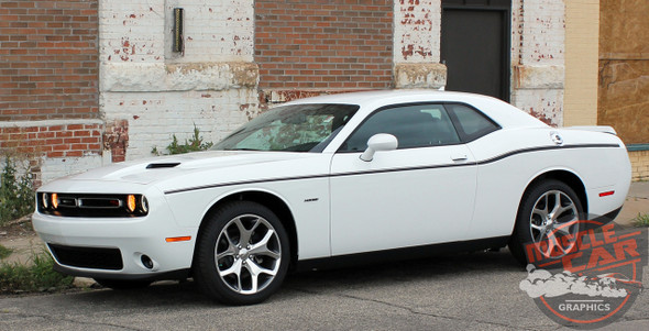 Rear View of 2015 Dodge Challenger Side Stripes SXT SIDE KIT 2011-2020 2021