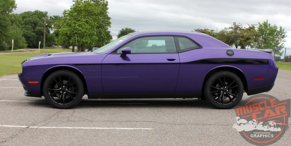 Profile View of 2018 Dodge Challenger Body Stripes ROADLINE 2008-2020