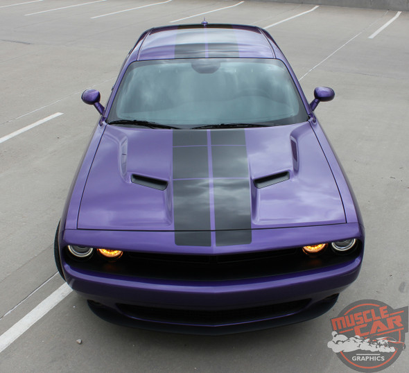 View of Dodge Challenger Blacktop Stripes PULSE RALLY 2008-2020 2021
