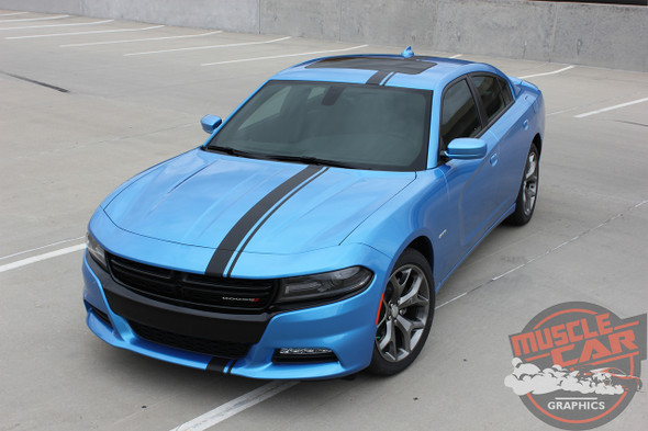 Front angle view 2017 Dodge Charger Euro Decals E RALLY 2015-2020
