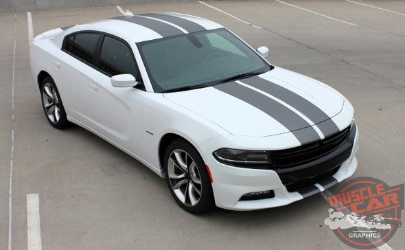 Front angle view of 2017 Dodge Charger Rally Stripes N CHARGE RALLY 15 2015-2020