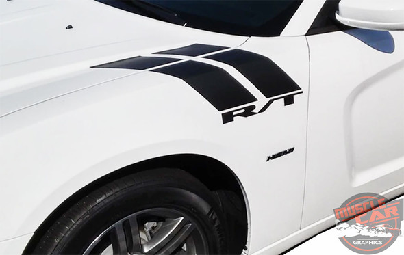 Side view of 2018 Charger Fender Stripes CHARGER 15 DOUBLE BAR 2011-2020