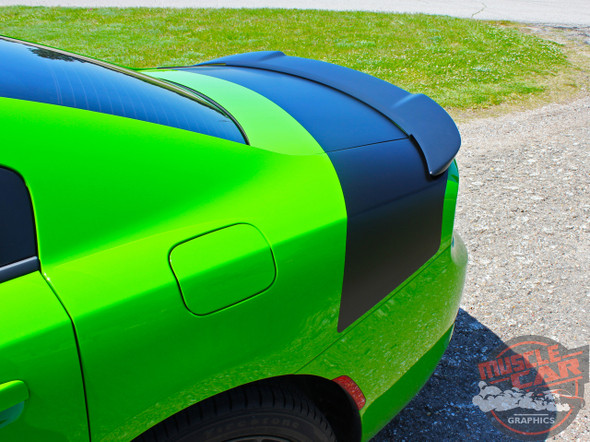 Side View of 15 CHARGER TAIL BAND | Dodge Charger Trunk Stripes Daytona Hemi SRT 392 Deck lid Vinyl Graphic Decals Kit 2015-2020 2021