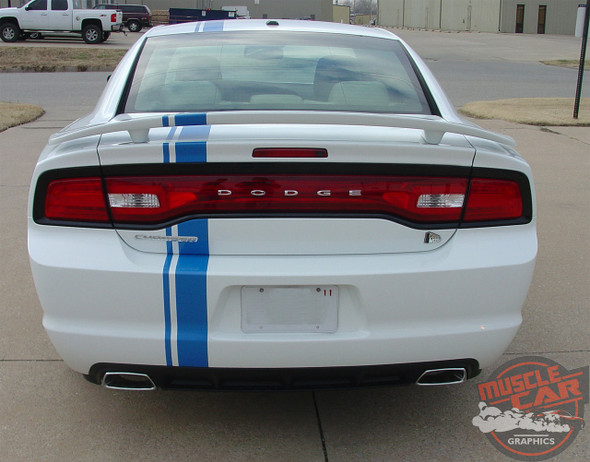 Rear view of 2014 Dodge Charger Euro Stripes E RALLY 2011 2012 2013 2014