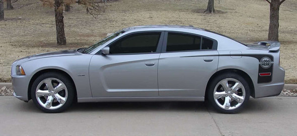 Profile View of 2014 Dodge Charger Hockey Stripes HOCKEY SERIES 2011-2014