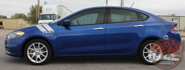 Side View Dodge Dart Fender Stripes DOUBLE BAR 2013 2014 2015 2016