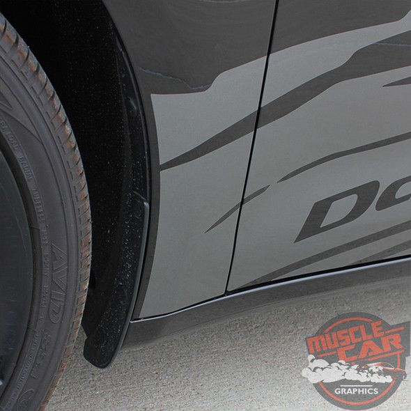 Close Up Side view of 2016 Dodge Dart Graphics RIPPED DART 2013 2014 2015 2016