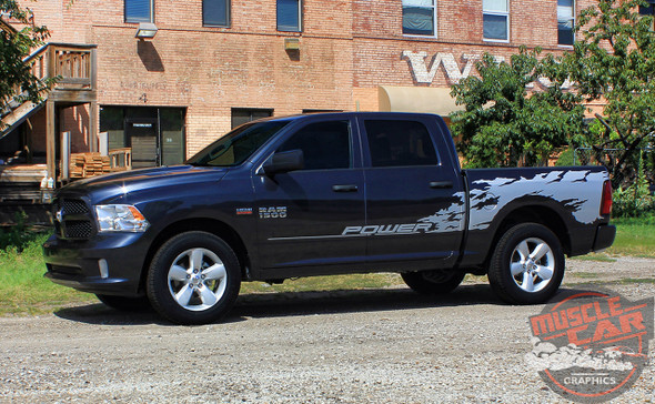 Side View of 2016 Ram 1500 Vinyl Graphics RAGE 2009-2017 2018