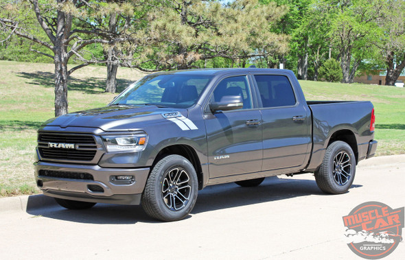 Front View of 2020 Ram 1500 Fender Stripes RAM HASHMARKS 2019 2020 2021