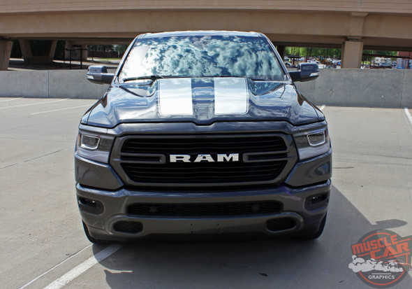 Front View of 2019 Ram Rebel Rally Decals RAM RALLY Stripe Package 2019 2020 2021